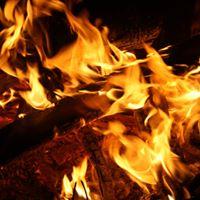 Sonntagsabends am Feuer